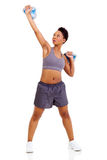 African woman lifting Royalty Free Stock Photography