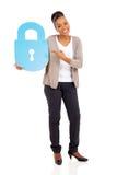 African woman lock symbol Stock Photography