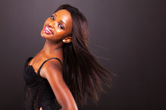 African woman long hair Royalty Free Stock Image