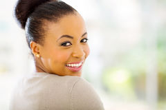 African woman looking back Stock Image