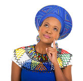 African woman looking up Royalty Free Stock Image