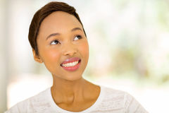 African woman looking up Royalty Free Stock Photo