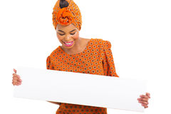 African woman looking white board Stock Photos