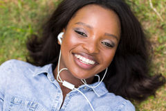 African woman music royalty free stock image