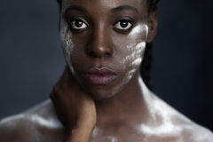 African woman with national makeup Royalty Free Stock Images