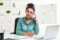 African woman in office Stock Photos