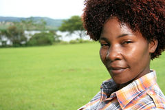 African Woman Outdoors Stock Photography