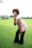 African Woman Outdoors Stock Photo