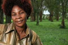 African Woman Outdoors Royalty Free Stock Photography