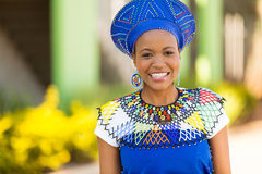 African woman outdoors Royalty Free Stock Images