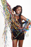 African woman at party Royalty Free Stock Photography