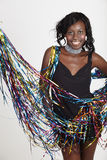 African woman at party Stock Photo