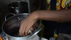 African woman stock video