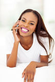African woman phone call Royalty Free Stock Photo