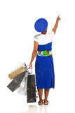 African woman pointing Royalty Free Stock Image