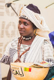 African woman posing at Expo 2015 in Milan, Italy Royalty Free Stock Photography