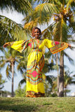 African woman posing in the park Royalty Free Stock Images