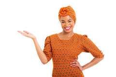 African woman presenting Royalty Free Stock Photo