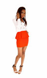 African woman in red skirt. Stock Photo