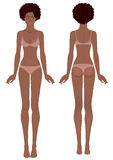 African woman's body template Royalty Free Stock Photo