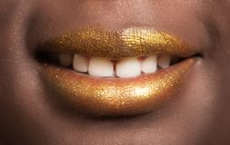 African woman's lips Stock Images