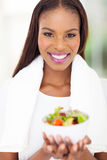 African woman salad Stock Photography