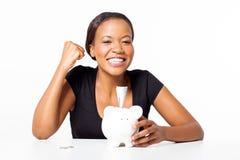 African woman savings Royalty Free Stock Photos
