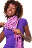 African woman with scarf Stock Photo