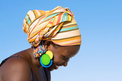 African woman with scarf Stock Photos