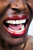 African woman screaming. African American woman screaming for help, people social issues series Stock Photos