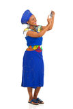 African woman self portrait Stock Images