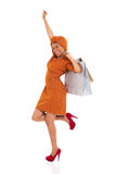 African woman shopper Royalty Free Stock Photography