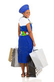 African woman shopping bags Stock Photography