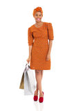 African woman shopping Stock Photography