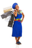 African woman shopping Royalty Free Stock Photography