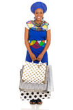 African woman shopping Stock Image