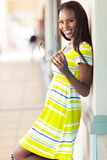African woman shopping center Royalty Free Stock Image