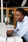 African woman shopping online Royalty Free Stock Images