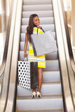 African woman shopping Royalty Free Stock Image