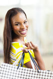 African woman shopping spree Stock Images