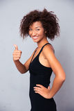 African woman showing thumb up Royalty Free Stock Photos