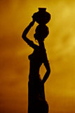 African woman silhouette Royalty Free Stock Photo