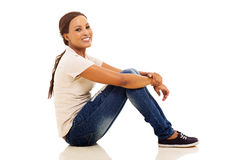 african woman sitting Royalty Free Stock Photos