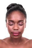 African Woman Skin Care