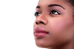 African Woman Skin Makeup Stock Photography