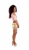 African woman in skirt. Royalty Free Stock Photo