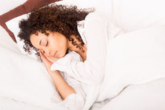 African woman slepping Royalty Free Stock Images