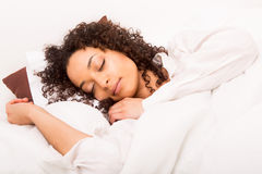 African woman slepping Royalty Free Stock Photos