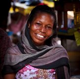 African woman with smiling face Royalty Free Stock Photos