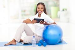 African woman tablet Stock Photos